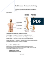 The Spine and Shoulder Joints – Motion in the Golf Swing