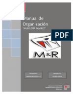 Manual de Organización M&R