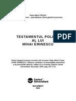 Mihai Eminescu - Testamentul Politic
