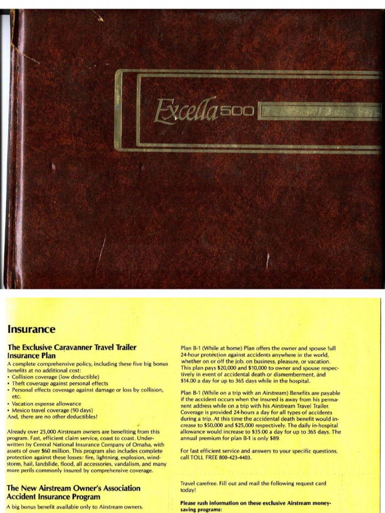 Airstream Manual 1978   Insurance   Brake