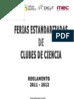 REGLAMENTO de Ferias Estandarizadas 2011-2012