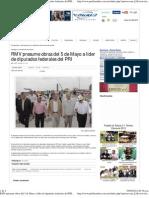 01-04-12 Puebla online - RMV presume obras del 5 de Mayo a líder de diputados federales del PRI