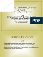 ESCUELA ECLÉCTICA, UNIVERSAL O DEL PROCESO ADMINISTRATIVO