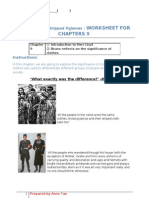 The Boy in the Striped Pyjamas - Chap 9 Worksheet