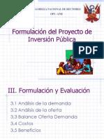 Formulación del Proyecto de Inversión Pública