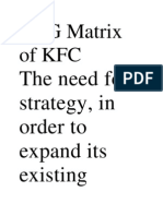 BCG Matrix of KFC