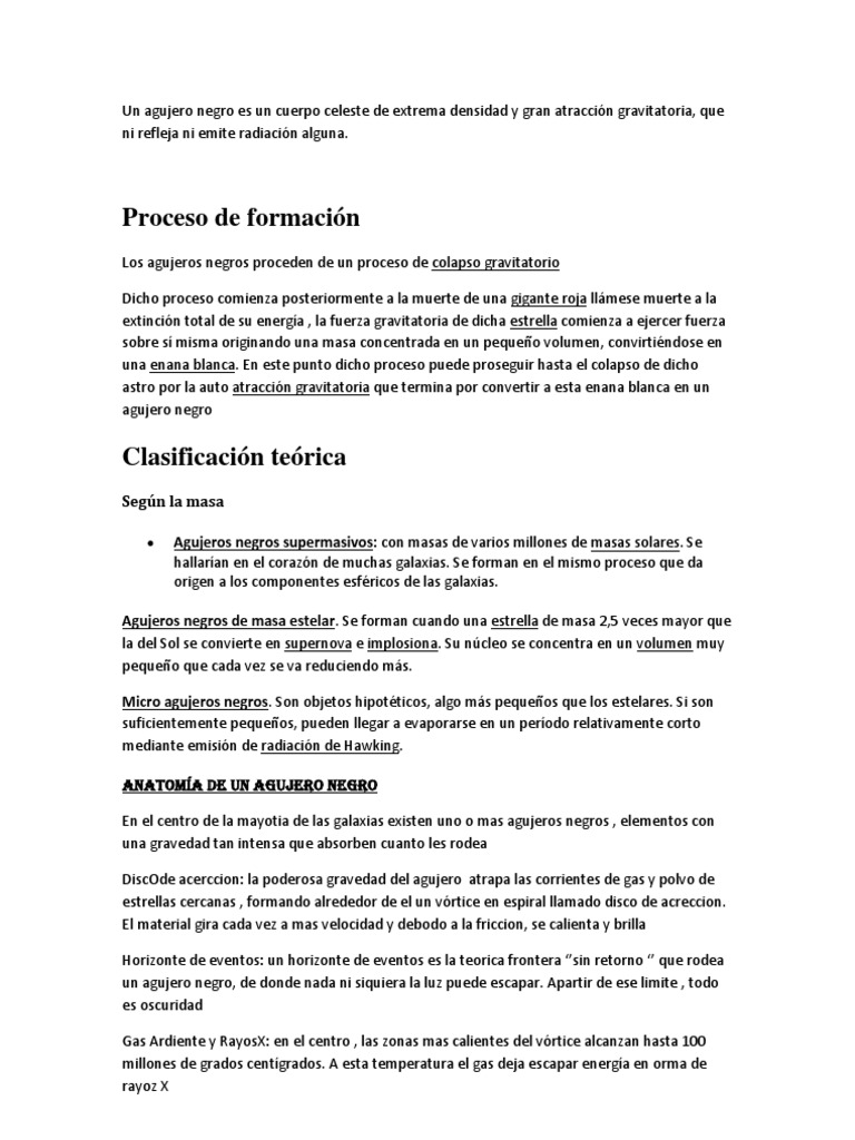 Famoso Anatomía De Un Agujero Negro Ideas - Imágenes de Anatomía ...