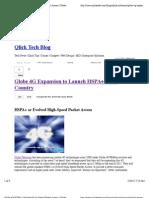 Globe 4G HSPA+ | Evolved High-Speed Packet Access | Globe WiMax | Qlick Tech Blog