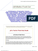The Acid:Alkaline Foods List