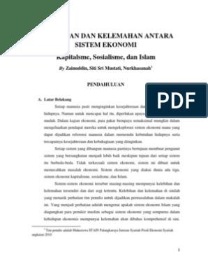 Kelebihan Dan Kelemahan Sistem Ekonomi