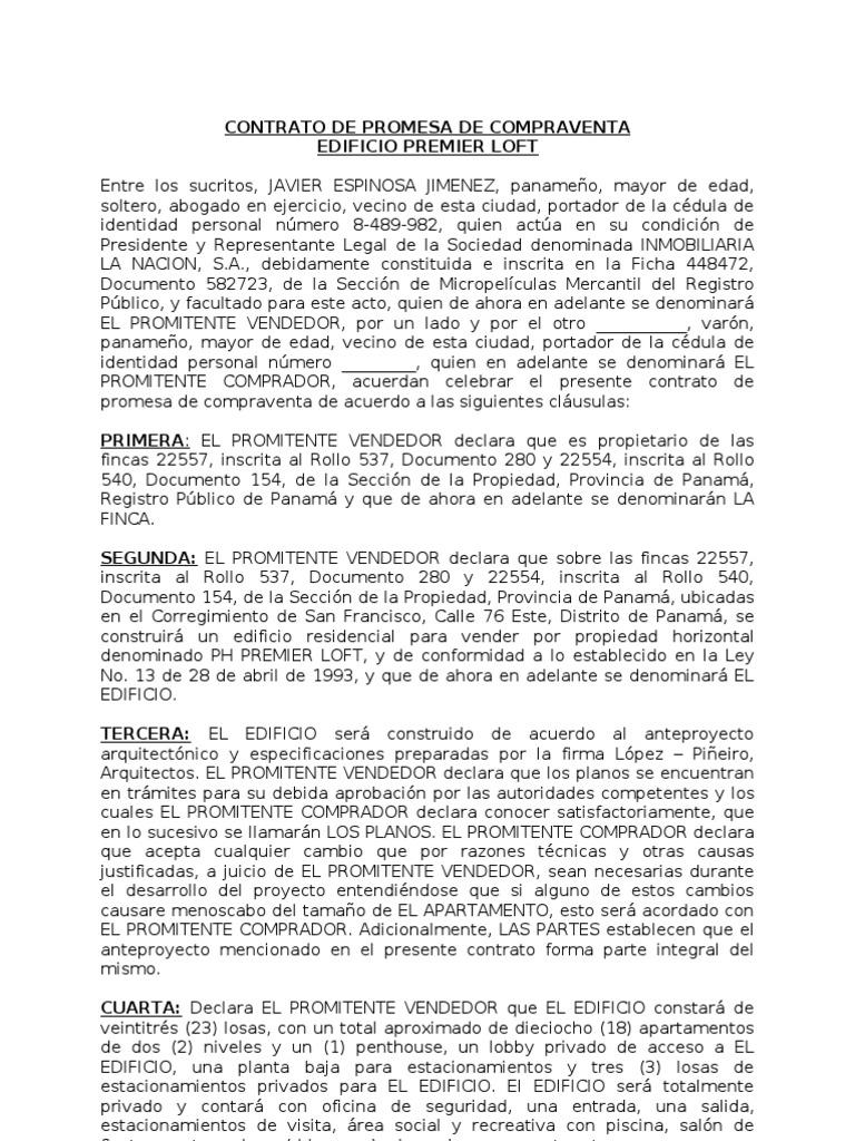 Contrato De Promesa De Compraventa Formato Final1 Mcort