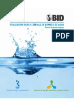 Evaluación para sistemas de bombeo de agua Manual de mantenimiento