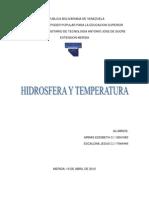 Hidrosfera y Temperatura