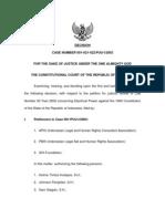Putusan Sidang Eng Putusan 001-021-022 PUU-I 2003 (UU Ketenagalistrikan) - English