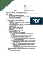 Neuro Exam 3 Notes