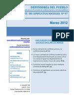 Reporte de Conflictos Sociales N°97 - Marzo_2012