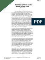 KJV Defenders - Mark Buch - Testimony