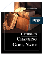 Catholics Changing God's Name