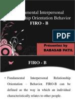 Firo - b Hr PPT MBA
