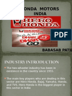 Hero Honda MARKETING PPT MBA