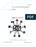 2002 Proceedings Annual Reliability and Maintainability Symposium