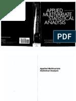 Applied Multivariate Statistical Analysis by Johnson Wichern