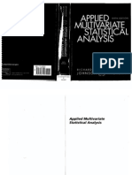 Applied Multivariate Statistical Analysis by Johnson Wichern