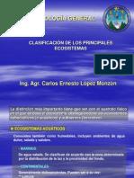 Clasificación ecosistemas