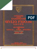 Fiocchi Catalog 1926