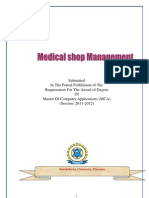 Online Medical Shop Management