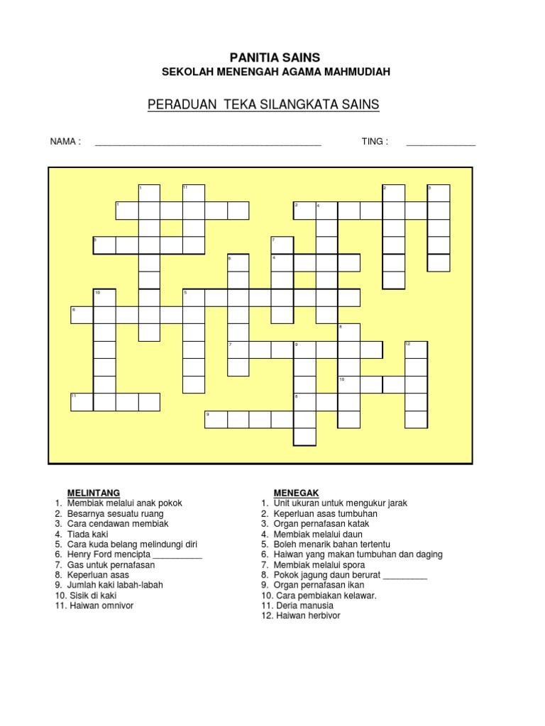 Copy of Peraduan Silangkata Minggu Sains1