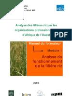Analyse des filières riz par les