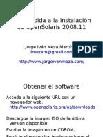 Vista rápida a la instalación de OpenSolaris 2008.11