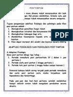 Adaftasi Post Partum