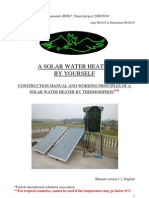 Low-Cost, Homemade, Do it yourself (DIY), Solar water heater manual