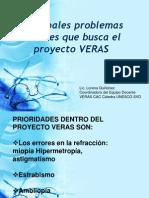 Principales Problemas Visuales que busca el Proyecto VERAS