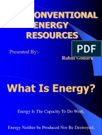 82016210 Non Conventional Energy Resources