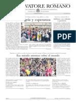 L´OSSERVATORE ROMANO. 08 Abril 2012