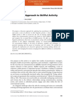 A Discursive Approach to Skillful Activity