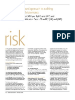 A Risk-based Approach to Auditing