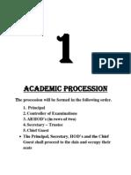 Procedure for Graduation Day Ceremony