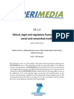 D5.1.2 Ethical, legal and regulatory framework for social and networked media v1.11
