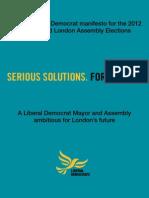 Liberal Democrat London 2012 Manifesto