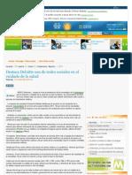 Destaca Deloitte uso de redes sociales en el cuidado de la salud