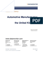 Automotive Manufacturing in the UK