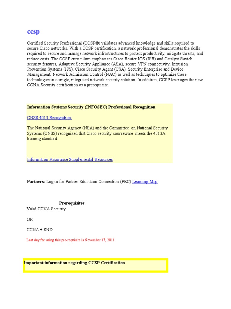 Ccsp cisco certifications computer networking xflitez Gallery