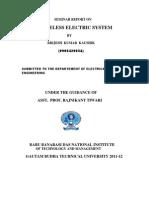 Wireless Power System Report