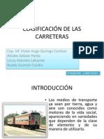 CLASIFICACIÓN DE LAS CARRETERAS