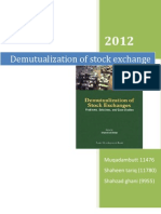 demutualization of stock exchange