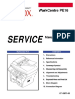 Xerox PE16 Service Manual